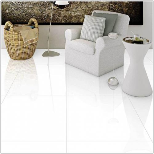 60x60 Extreme White Polished Porcelain Floor Tile Full Bodied