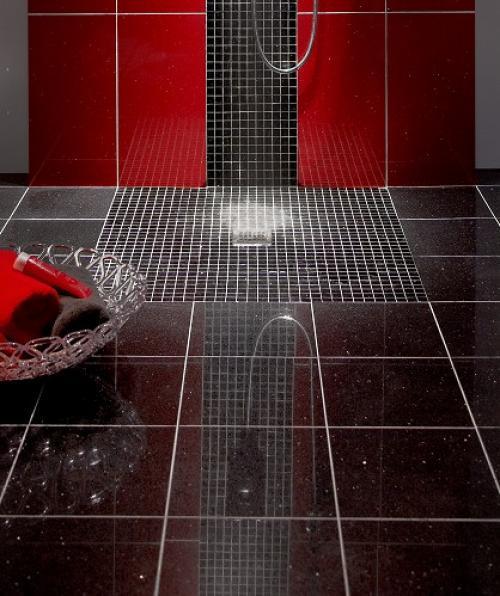Polished Black Quartz Stardust Glitter Wall And Floor